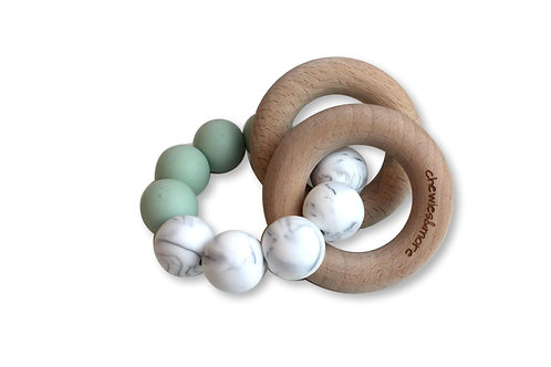 Chewie Basic Rattle - Early Sea / Marble