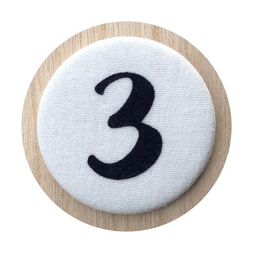 Cijferbutton - Blauw (3 tot 6)
