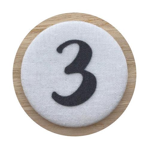Cijferbutton - Grijs (3 tot 6)