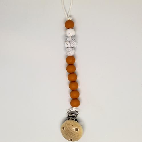 Chewie clip -Honey / Marble