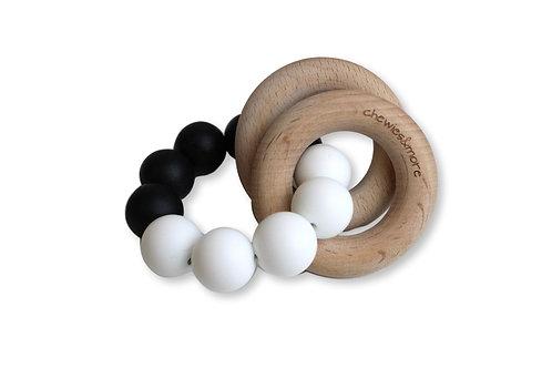 Chewie Basic Rattle - Black & White