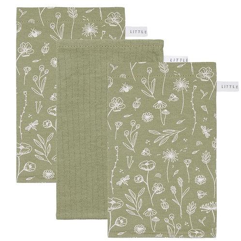 Washandjes - Wild Flowers - Olive