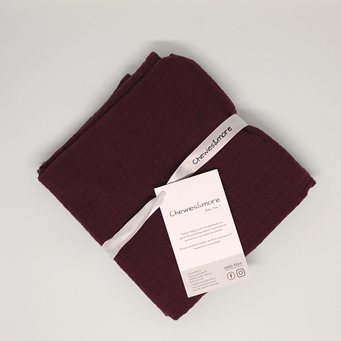 Swaddle doek 65 x 65 - Bordeaux