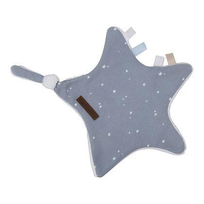 Ster Knuffeldoekje Little Stars Blue - Little Dutch