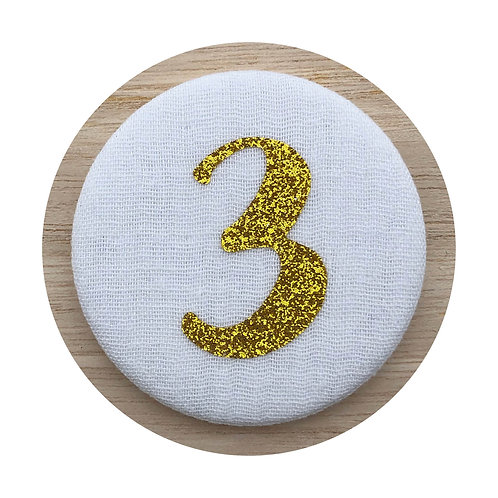 Cijferbutton - Goud (3 tot 6)