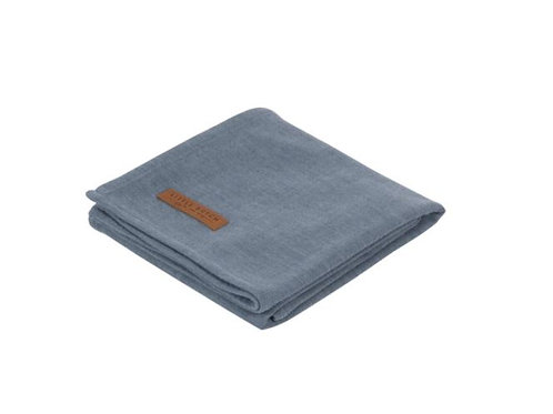 Swaddle doek 120 x 120 - Pure Blue - Little Dutch