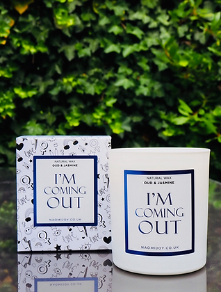 NJ Living I'm Coming Out Natural Wax Candle - Oud & Jasmine