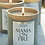 Thumbnail: NJ Living Mama On Fire Natural Wax Candle in Dark Noir