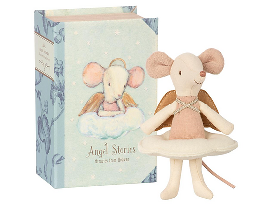 Maileg Angel Mouse - Big Sister in Book