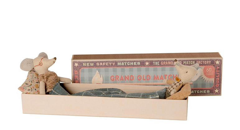 Maileg Grandma & Grandpa Mice in a box