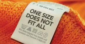O famoso tamanho único que não serve pra ninguém.