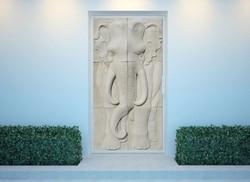 Single Elephant in Sandstone