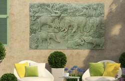 Elephants in Green Sandstone