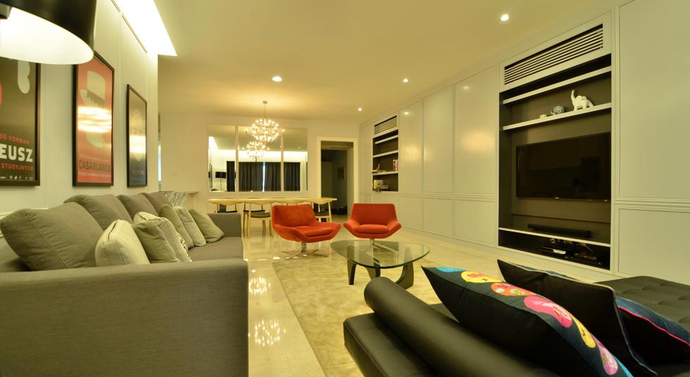 Living Hall At Seni Mont Kiara