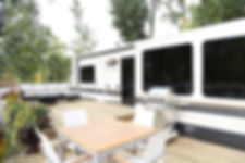 RV Trailer and Deck