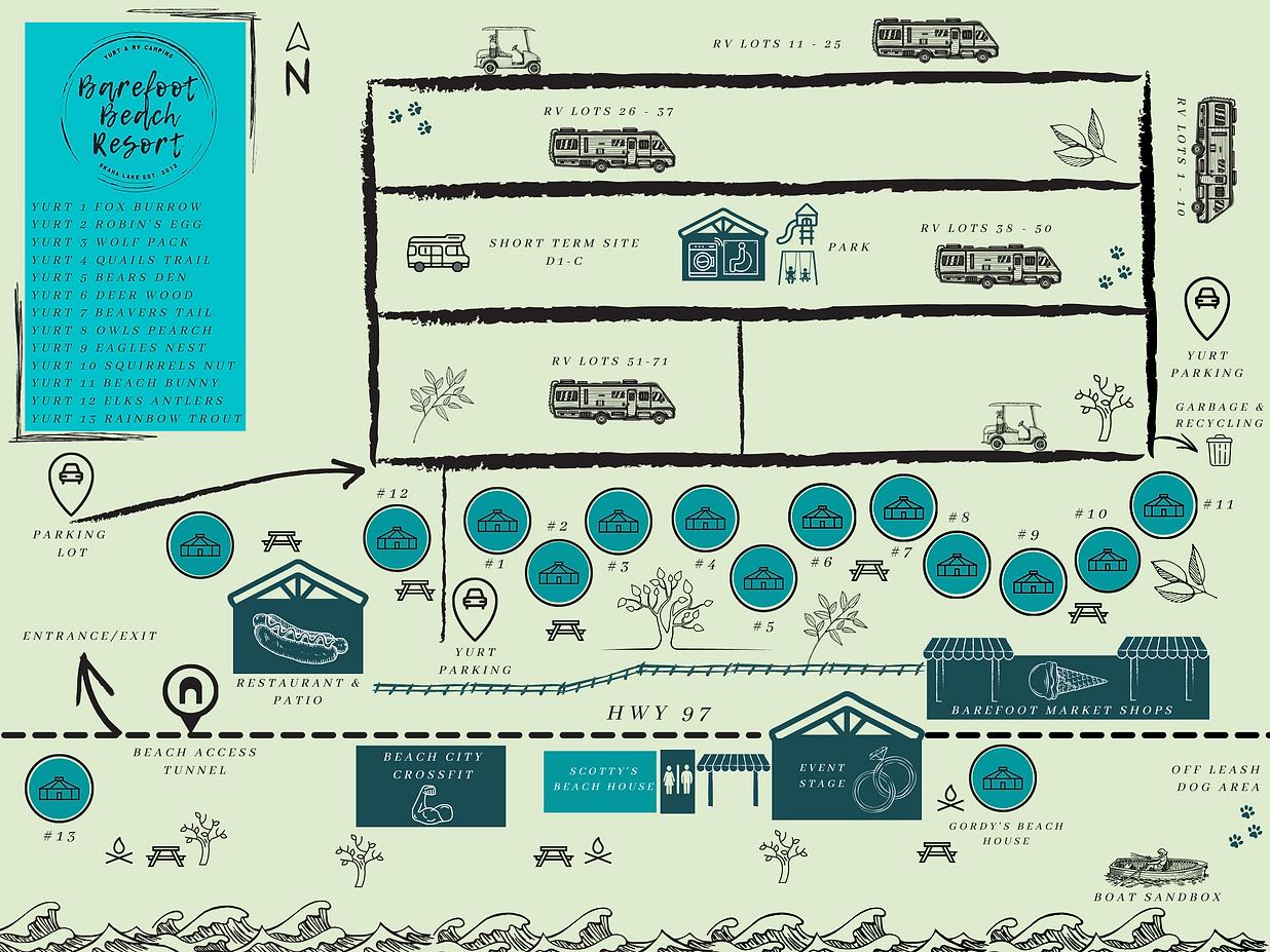 Barefoot Resort Map