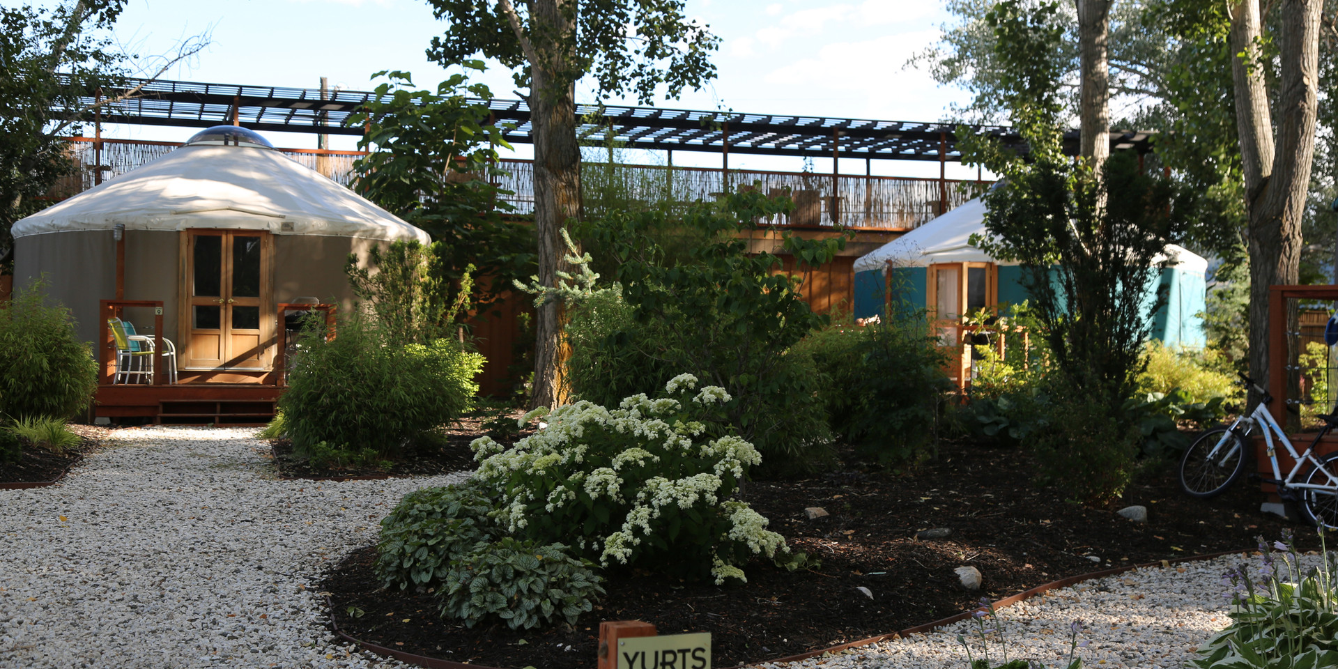 Yurt gardens and paths