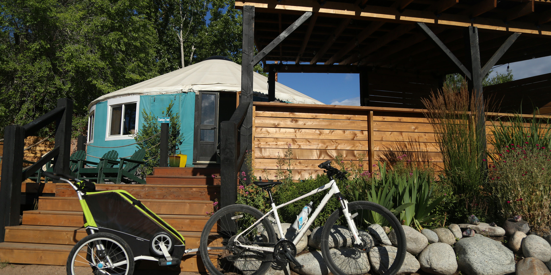 biking resort, adventure camping