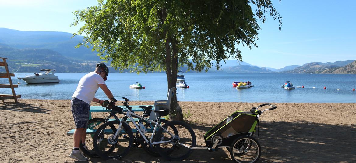 Biking resort, adventure camping