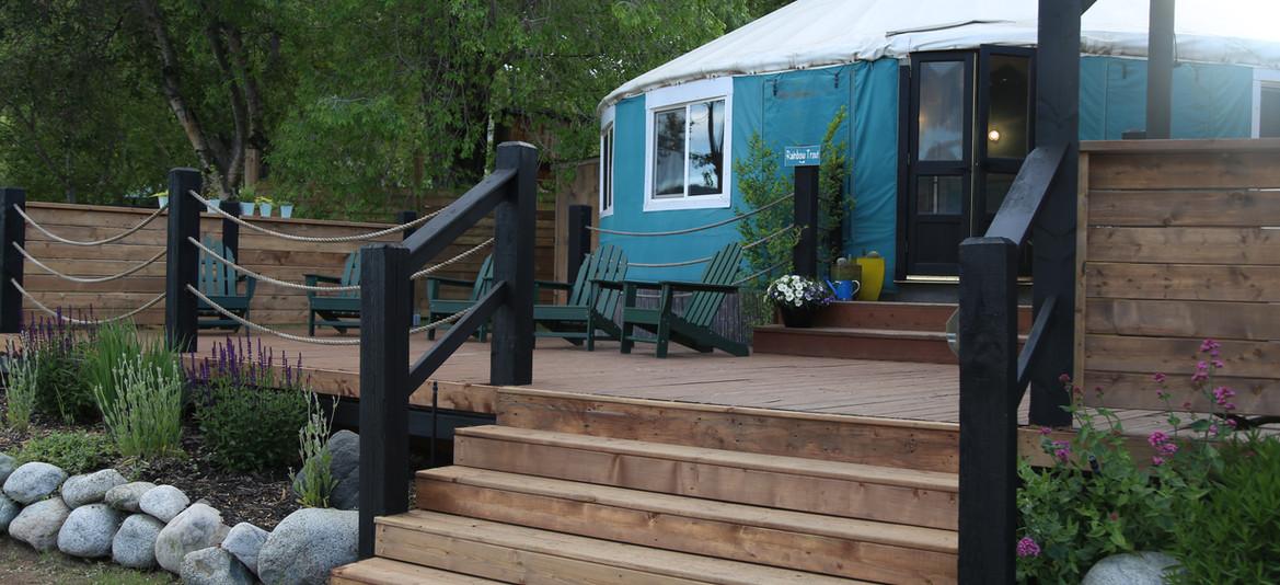 yurt deck