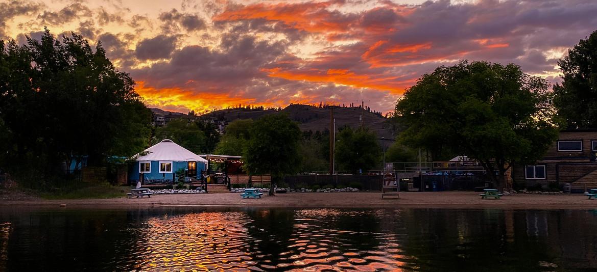 Sunset on Skaha Lake