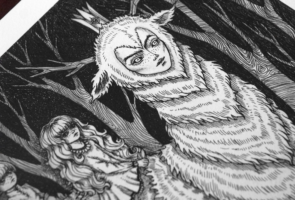 Into the Woods Limited Edition A4 Print