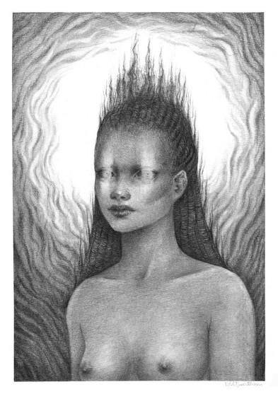 'A Goddess' by Vilde Dyrnes Ulriksen   Mokinzi Art