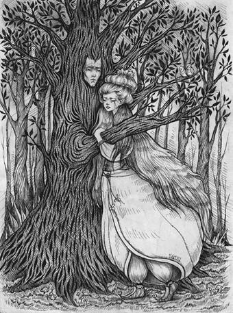 'The Princess and Her Tree' by Vilde Dyrnes Ulriksen | Mokinzi Art