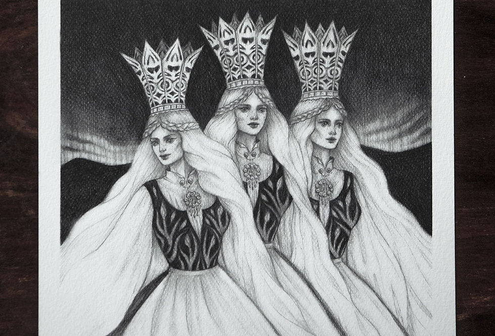 'Princesses Three' Limited Edition Print