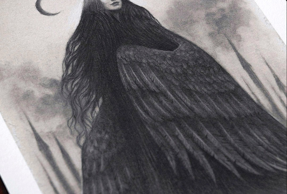 'Raven Queen' Limited Edition A4 Print