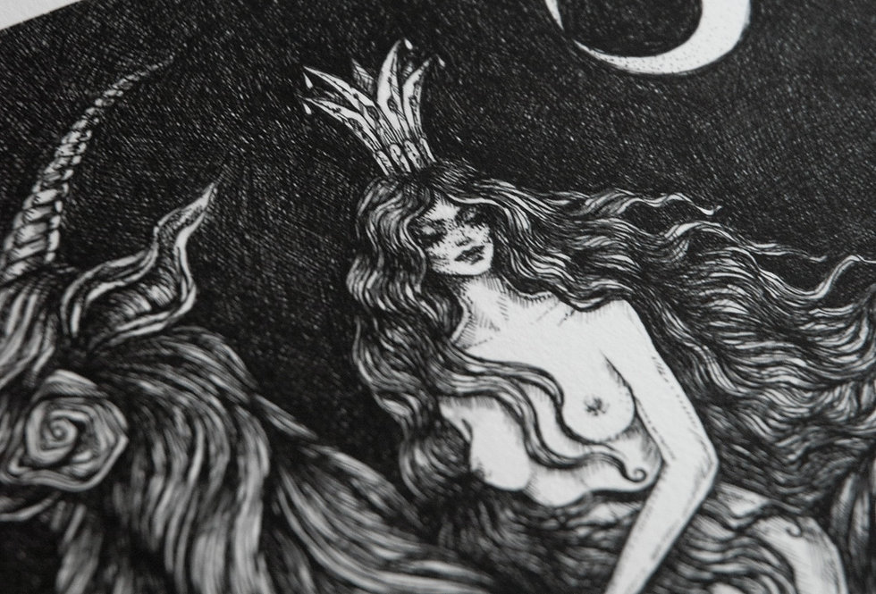 Moonlit Ride A4 Print