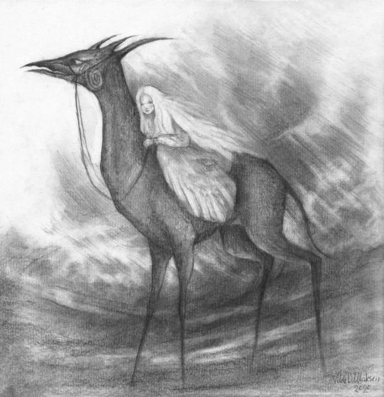 Untitled sketch by Vilde Dyrnes Ulriksen   Mokinzi Art