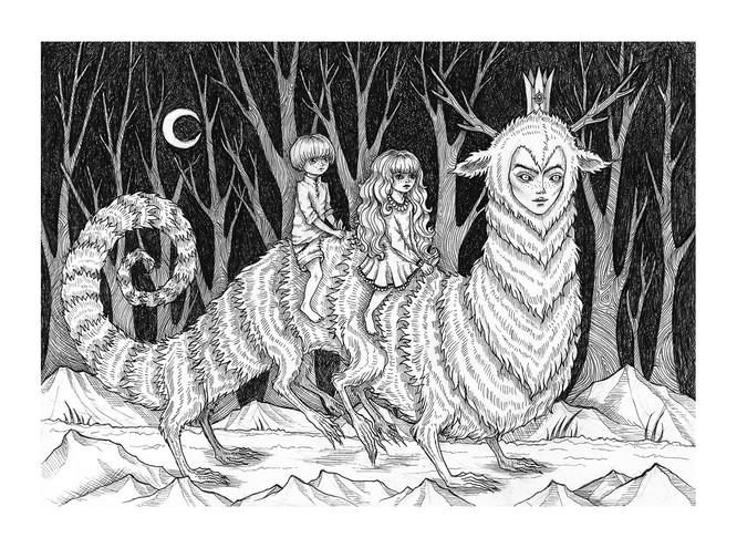 'Into the Woods' by Vilde Dyrnes Ulriksen | Mokinzi Art