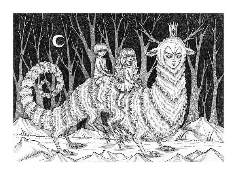 'Into the Woods' by Vilde Dyrnes Ulriksen   Mokinzi Art