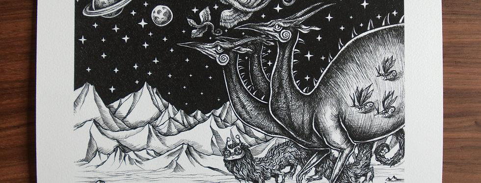 Cosmic Parade A4 Print