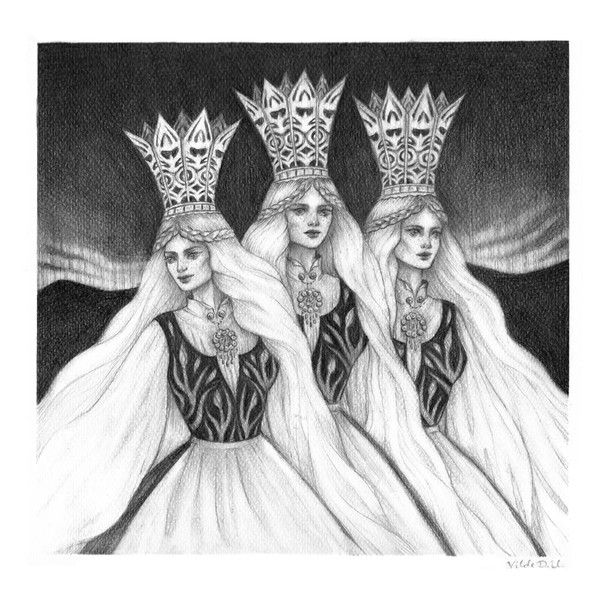'Princesses Three' by Vilde Dyrnes Ulriksen   Mokinzi Art