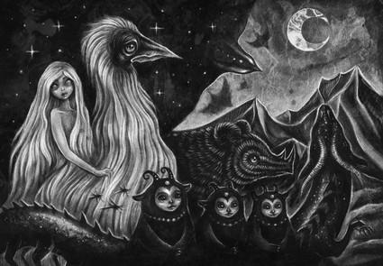 'We Ride with the Night' by 'Reminiscence' by Vilde Dyrnes Ulriksen | Mokinzi Art