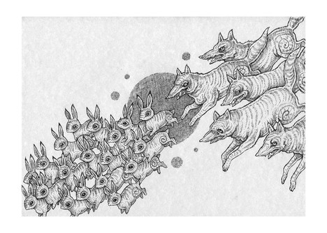 'A Chase of Life and Death' by Vilde Dyrnes Ulriksen | Mokinzi Art