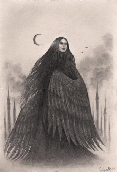 'Raven Queen'  by Vilde Dyrnes Ulriksen | Mokinzi Art