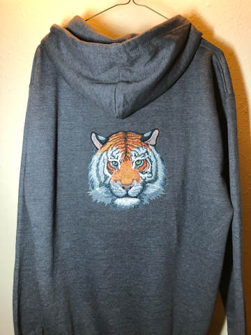 Zippered Hoodie with Tiger