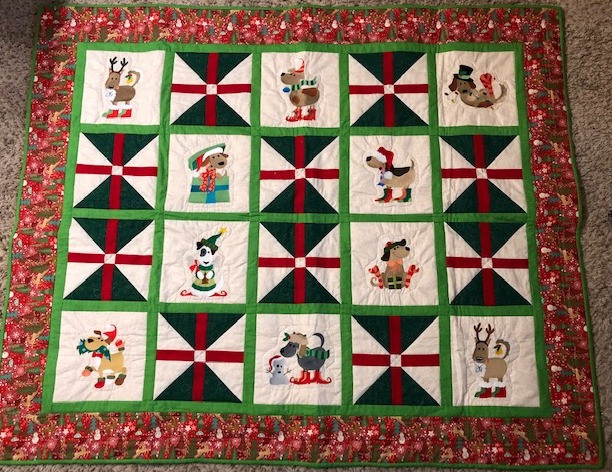 Christmas Doggie Quilt