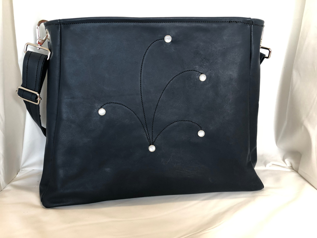 Leather Carry-It-All Tote