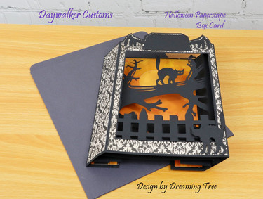 Halloween Paperscape Box Card