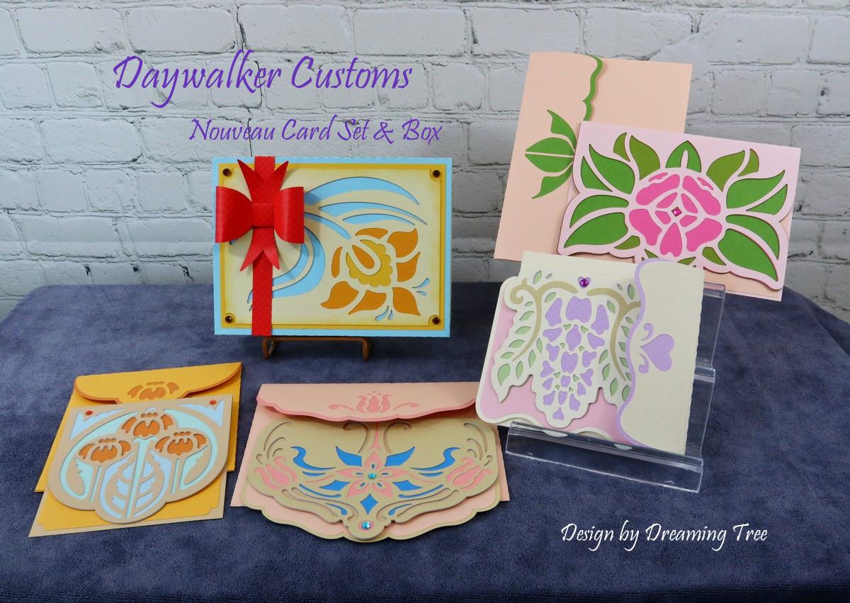 Nouveau Cards with Box