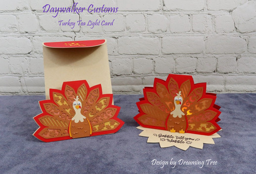 Turkey Tea Light Card