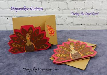 Turkey Tea Light Card