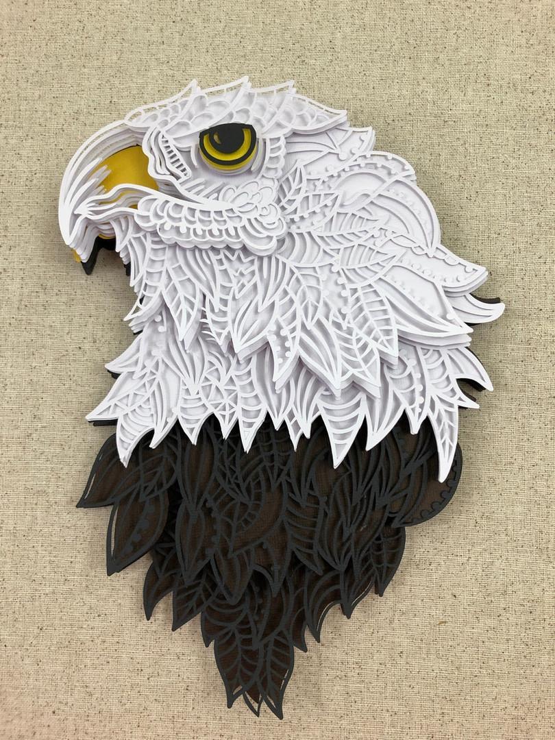 3D Mandala Eagle