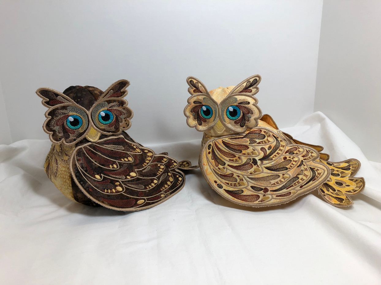 Embroidered Owls
