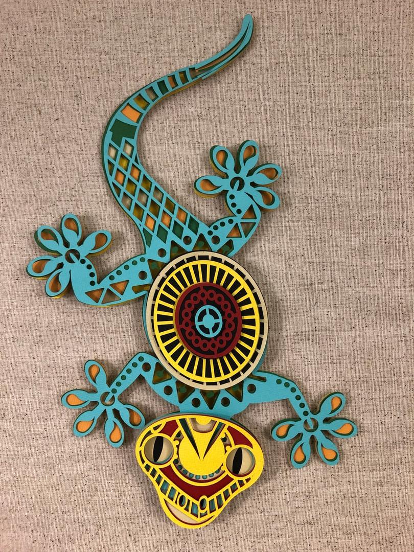 3D Mandala Gecko