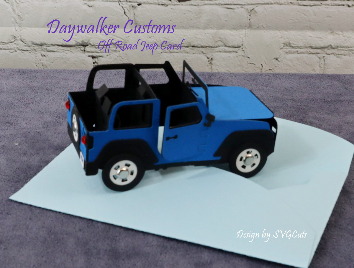 Off Road Jeep Card